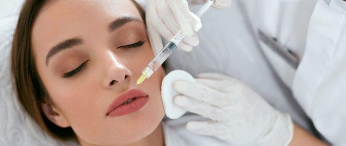 fillers-injektion i läpparna